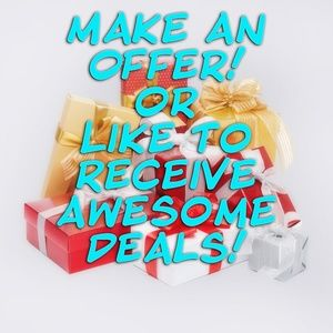Make Us An Offer or Like to Receive Awesome Deals!